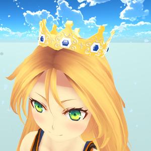 王冠3Dモデル【△1088・VRC想定】
