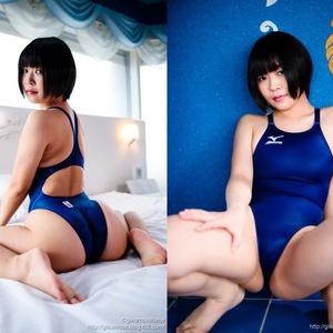 【高解像度DLデータ付】競泳水着の彼女のフロマージュ 伊波ひふみ