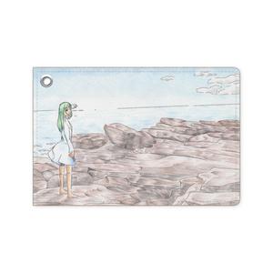 風景画パスケース(色鉛筆イラスト)