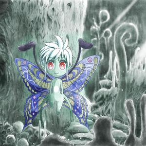 イラスト「月光蝶」