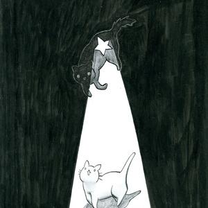 「くらやみくん、夜道を照らす」