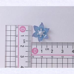 青紫のフラワー ピアスorイヤリング