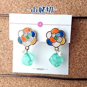 椿紋 -耳飾-