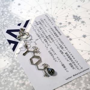 【薬セサリー】イブプロフェン(イヤリング・ピアス・ブックマーカー)