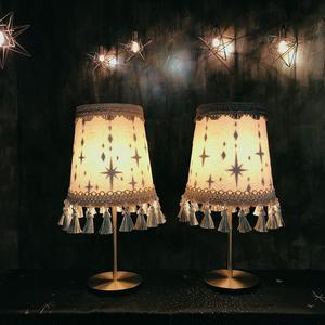 キラキラ柄のランプシェード