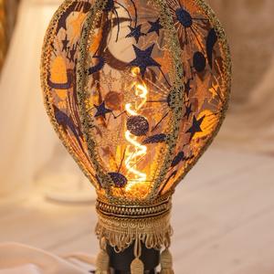 【再販】黒・気球のランプシェード