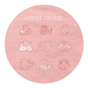 vomit rabbit pink