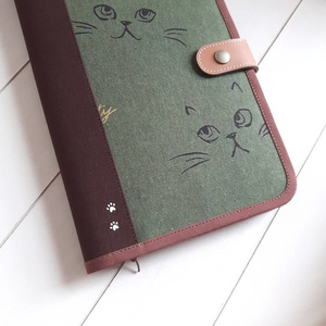 A5 スタンダード手帳ケース(モスグリーン)