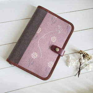 B6手帳ケース(花と鳥 渋ピンク)