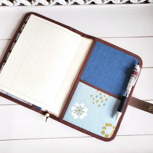 B6手帳ケース(水色と白の鳥)