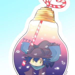 """アクリルストラップ """"bulb soda."""""""