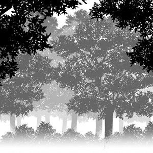 木・茂み・森素材セット