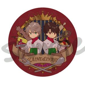 スレイン&伊奈帆 エンブレム風缶バッチ