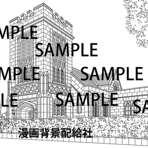 漫画背景素材「洋館2」