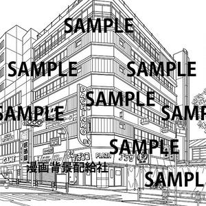 漫画背景素材「古いビル(エンジェルビル・代々木会館)」