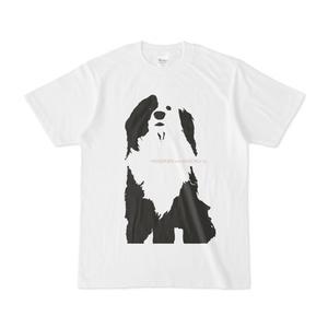 片パンダ犬 》BODY コットン白T