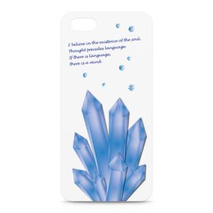 ことばの結晶 iPhoneケース白