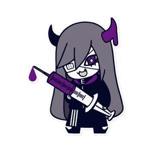 キリエリステッカー(眼帯ver.)