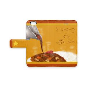 カレーライス手帳型iPhoneケース