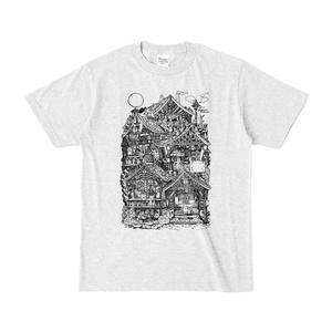 月見猫屋敷Tシャツ
