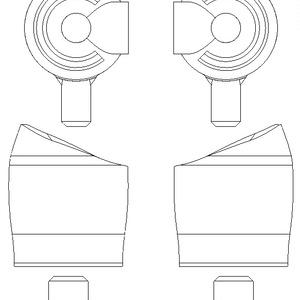 メガミデバイス用互換股関節『解放接続式球状関節』