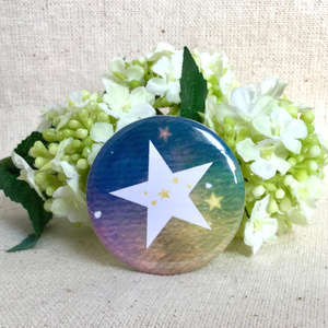 《バラ》クリップピン付缶バッジ【希望の五つ星】