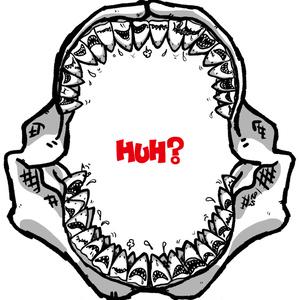 サメのHuh?(赤文字②)