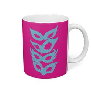 """8 variations """"THE LADY'S MASKS"""" Mug (Multi-color)"""