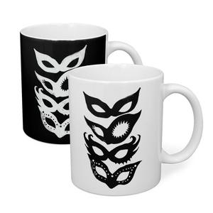 "2 variations ""THE LADY'S MASKS"" Mug (B/W)"