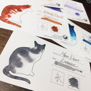 【インク帳】ねこを染めるインク帳カード【№1】50枚入り