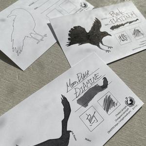 【2/22限定販売】カラスを染めるインク帳カード