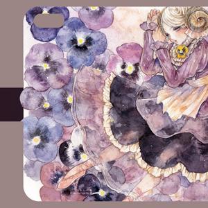 【6/6s版】パンジーの少女のiPhoneケース 単品