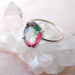 アイリスグラスのリング/オーバル