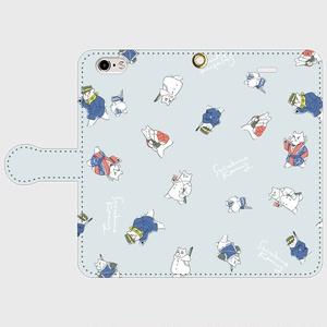 【それゆけしろくま】金カムイ手帳型ケース【グレー】