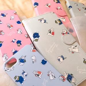 【それゆけしろくま】金カムイ手帳型ケース【ピンク】