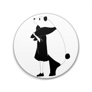 モノクロちゃん缶バッジ Ver.パンダ