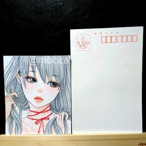 ■生原画■ ━ パールとリボン ━ 手描きイラスト