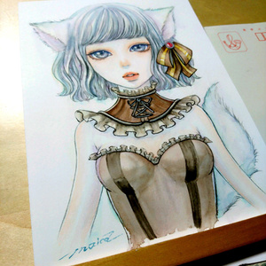 ■生原画■《スパイシーチョコ》  オリジナル 手描きイラスト