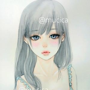 原画《 @ girl  》  オリジナル手描きイラスト