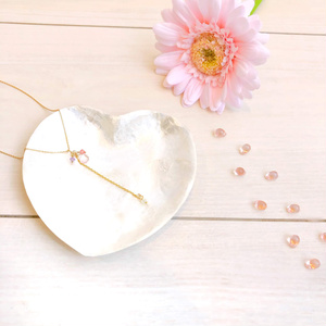 Chain necklace♡pink