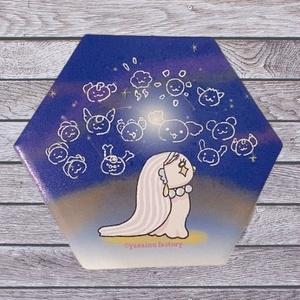 白雲石コースター(夜空とあまびえさん)