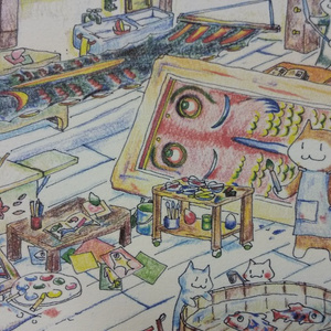 ポストカード『仕事部屋』5枚セット