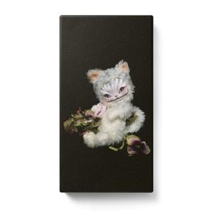 モバイルバッテリー*花とチェシャ猫