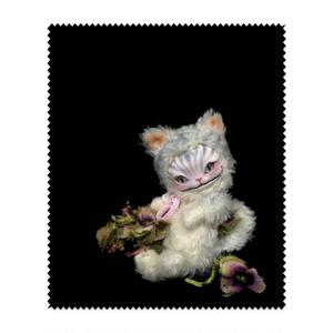 メガネ拭き*花とチェシャ猫