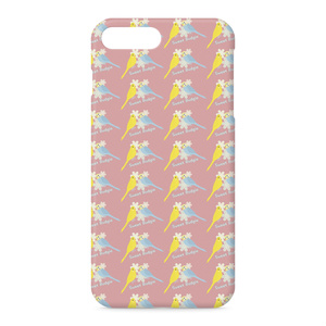 iPhoneケース Sweet Budgie(ピンク)