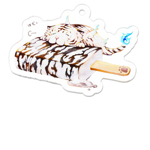 白虎×パリパリバー アクリルキーホルダー