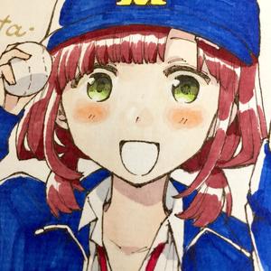 【期間限定価格】色紙『もし野球部のマネージャーが女子じゃなかったら/富士見 勝男』