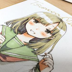色紙『ミキの放課後』ミキ