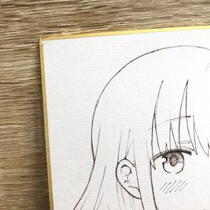 【特別価格】大サイズ色紙『ミキの放課後』ミキと泉