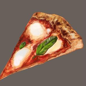 【3D小物/VRC可】手づくりピザ マルゲリータ【手描きテクスチャ】